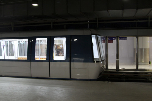 IHI Corporation built 'phase 2' train arrives into the platform