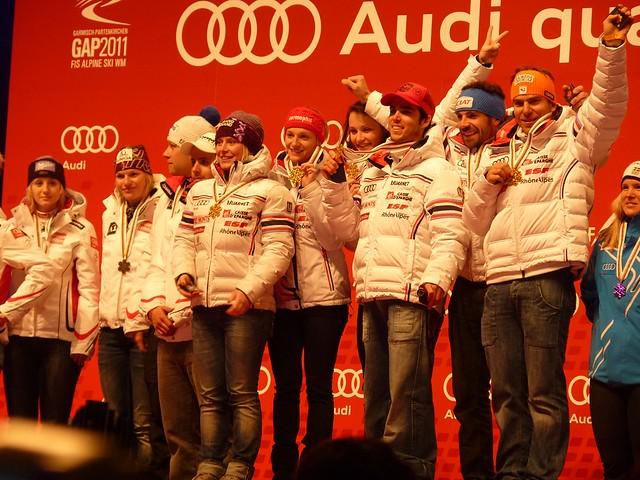 Sieger Team-Event France - Ski-WM 2011