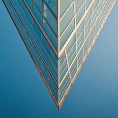 V, multiplied (Philipp Klinger Photography) Tags: blue windows light sunset shadow summer sky sun detail reflection building window glass lines june architecture facade reflections evening nikon nw architecturaldetail geometry north line sharp v edge promenade nrw dusseldorf dsseldorf rhine rhein philipp nordrheinwestfalen zollhafen stadttor klinger zollhof rhinewestphalia handelshafen d700 dcdead