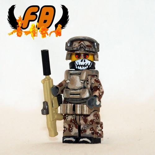Custom minifig Desert Warrior custom lego minifigure