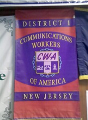 CWA Banner at Labor Ed Center