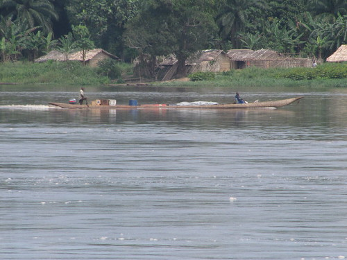 starting the trip upstream to Kindu
