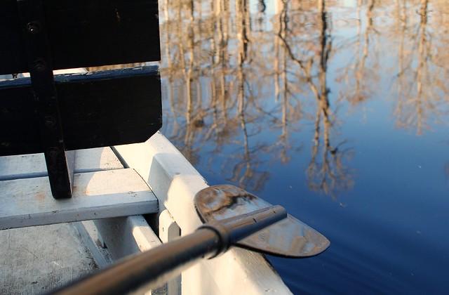 rowboat at cypress gardens
