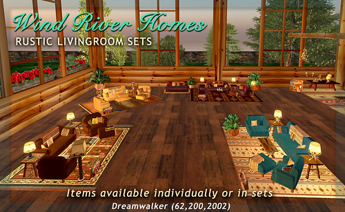 New Rustic Livingroom Sets by Teal Freenote