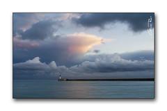 Clouds (nodriman) Tags: sky espaa lighthouse rain clouds faro puerto atardecer lluvia spain mediterraneo sony andalucia cielo nubes a200 almeria