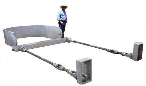 """Large Custom """"Sling"""" Support and Horizontal Traveler Assemblies for an Oil Refinery"""