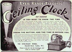 CEILING CLOCK (old school paul) Tags: clock electric vintage ads 1911 adverts everready ceilingclock