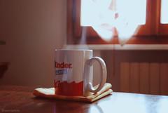 poi chissà chi lo può dire... (;Aurora) Tags: wood red white house hot cup window table milk smoke kinder caffè