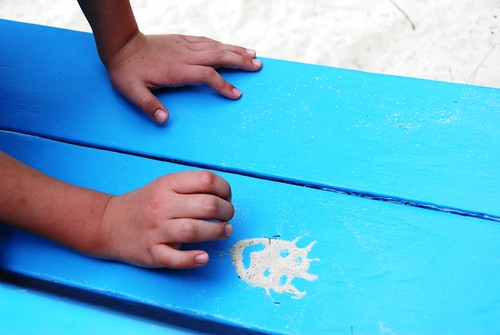 sand art in the caribbean