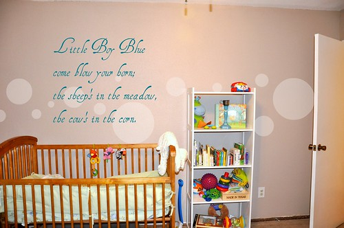 Baby Room with quote