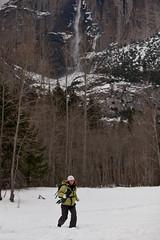 Balance.....  week7 (Ellie Stone) Tags: winter snow nature training waterfall running yosemite balance february upperyosemitefalls marathontraining