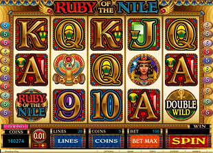 Ruby of the Nile slot presents