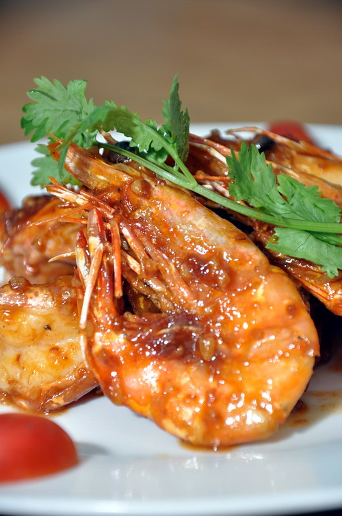 Stir Fried Prawn with dry shrimp