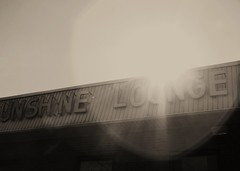 Sunshine Lounge (colorlessikiss) Tags: blackandwhite bw sun sunshine lounge sunburst blackwhitephotos