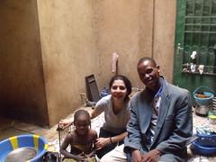 Avec Salimata et son papa.