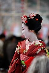 (Tamayura) Tags: 201102251442220 2011 feb kyoto kansai japan kitanotenmangu baikasai plumblossomfestival teaceremony kamishichiken geiko maiko nikon 70200mmf28gvrii d3