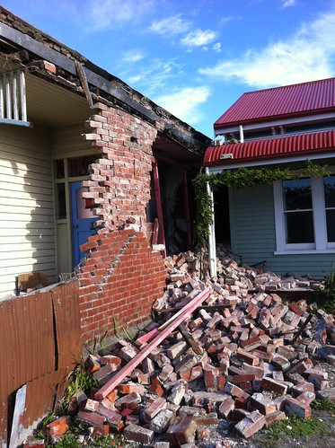 Damage to a house in Sydenham