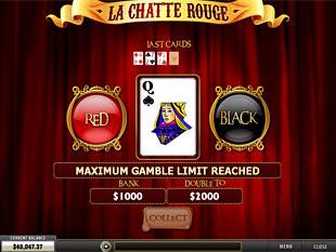 free La Chatte Rouge slot gamble feature