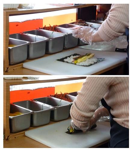 Making 참치김밥