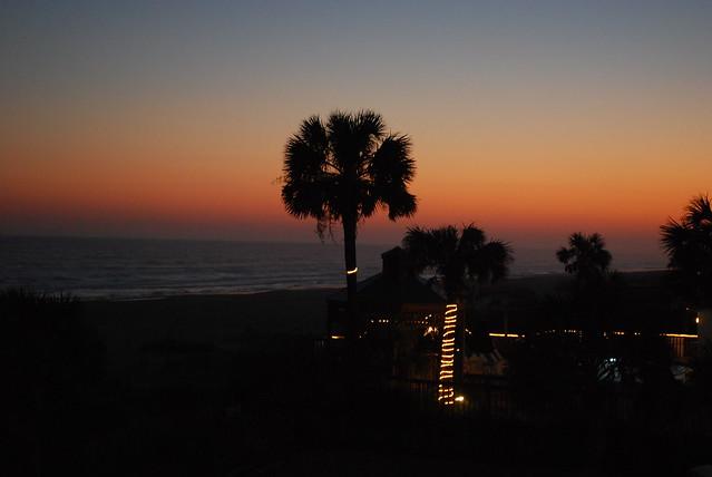 sunset at Ocean Isle Inn