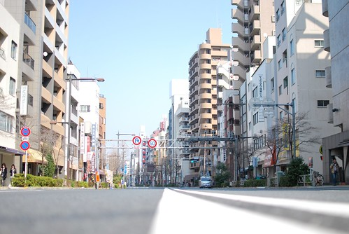 an empty tokyo road