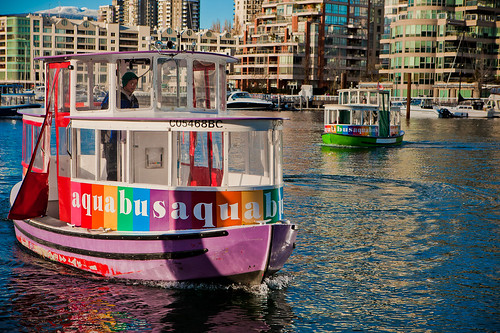 Aquabus on the water