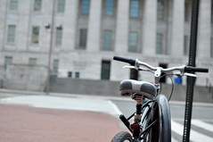 Bike Black (inetnasshadow) Tags: city morning winter urban dc chintown