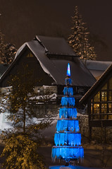 Art of light - Konsberg (Aviation & Maritime) Tags: longexposure light snow tree art norway night nightshot tre kongsberg nightimage