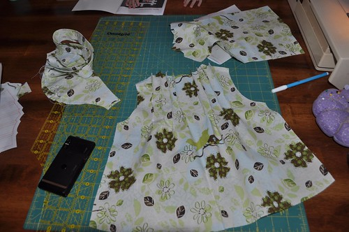 toddler blouse in progress