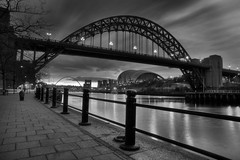 Tyne Bridge (M J Turner Photography ) Tags: morning bw newcastle baltic gateshead tynebridge northumberland newcastleupontyne quayside rivertyne thesage gatesheadmillenniumbridge