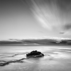 The Lonely Rock (310 Seconds) (DavidFrutos) Tags: longexposure bw costa seascape beach water monochrome rock clouds square landscape monocromo coast agua rocks waves smooth silk wave playa paisaje bn minimal alicante filter lee nubes nd minimalism filters minimalismo canondslr olas roca rocas ola waterscape filtro largaexposicin filtros gn