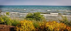 Lake Michigan Shoreline Pano (slarsen327) Tags: lake wisconsin shoreline lakemichigan tworivers mygearandme