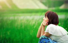 [フリー画像] 人物, 女性, アジア女性, 目を閉じる, 横顔, 201103091500