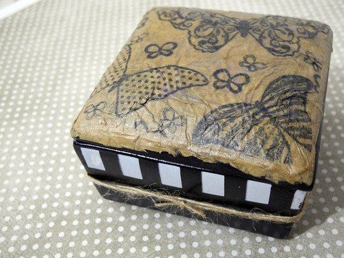 Faux Leather Trinket Box Lid
