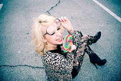 CHELSEA DEEN. (Ally Newbold) Tags: road street red urban white black colors fashion tattoo youth allison outside glasses big shoes colorful pattern infinity gothic happiness tights clear teen nails leopard teenager lollipop tat leggings outfitters newbold wwwallisonnewboldcom