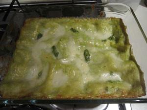 Ingredienti lasagne Asparagi e Burrata