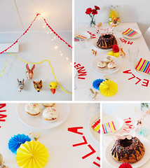 a colourful birthday table (misspfui) Tags: birthday colors children diy colorful colours birthdayparty geburtstag colourful geburtstagsfeier kindergeburtstag schleich partystyling