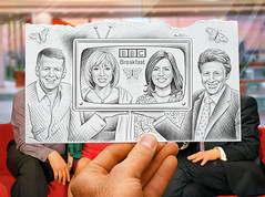 "Pencil Vs Camera for ""BBC Breakfast"" (Ben Heine) Tags: uk greatbritain morning portrait haircut celebrity london art broadcast public weather television fashion sport flesh radio butterfly insect photography sketch tv team pretty hand friendship faces audience skin drawing mixedmedia main group smiles handsome wave dessin business event entertainment relationship papillon human gift bbc londres angleterre celebrities info quatro popular sourire biography channel feature mixture happening peau chaine onde matin presenters simulcast starsystem humain bbcbreakfast theartistery benheine sianwilliams miseenabime billturnbull susannareid pencilvscamera prsentateurs charliestayt newsprogramm"