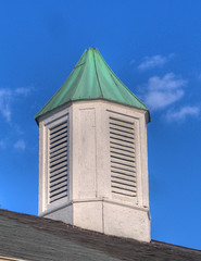 Blue Skies (jeffs4653) Tags: new raw cupola copper jersey hdr patina bloomfield cameraraw photomatix essexcountynj canong9