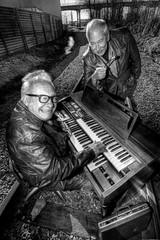 Railroad Tracks and an Organ - Norman 2062 (JLPhotoArt - Jeremy Lindstrom) Tags: ca musician music canada vintage keyboard bc surrealism traintracks surreal oldman retro newwestminster unplugged railroadtracks lowreyorgan