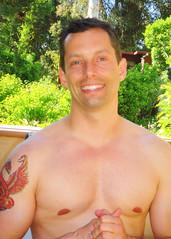 AngelsSwim 062 (danimaniacs) Tags: shirtless man hot cute sexy male guy smile tattoo colorful alone nipple bare chest hunk pheonix
