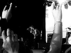 Iggy and the stooges (pasty pirate) Tags: blackandwhite music colour musicians contrast amazing iggy bands perth neverforget iggypop bigdayout thestooges bestday bdo canonixus 2011 iggyandthestooges pointandclick claremontshowgrounds february6th