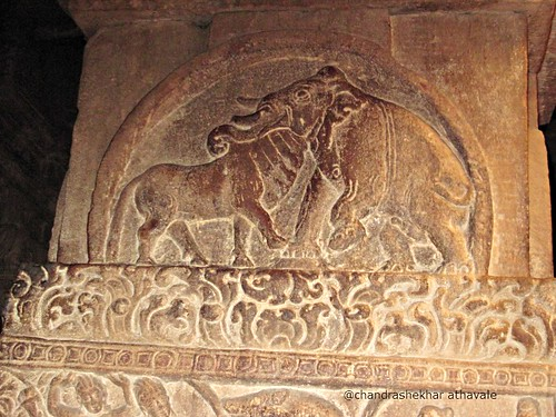 bull elephant common head Virupaksha temple