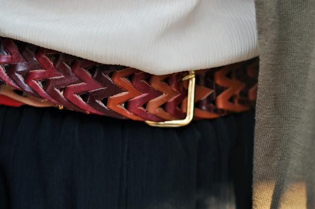 vintage multi color leather belt, vintage braided belt, leather belt, DSC_0341