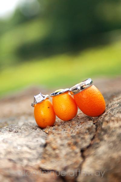 wedding rings and cumcuats