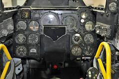 F-86D Sabre s/n 52-3653 cockpit instrument panel. (skyhawkpc) Tags: nikon colorado pueblo cockpit sabre co usaf allrightsreserved instrumentpanel northamerican d90 f86d coloradoairnationalguard sabredog pwam garyverver puebleweisbrodaircraftmuseum 523653