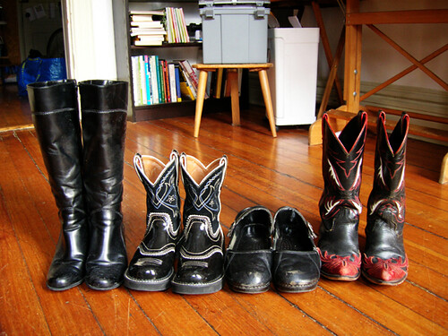 black footwear