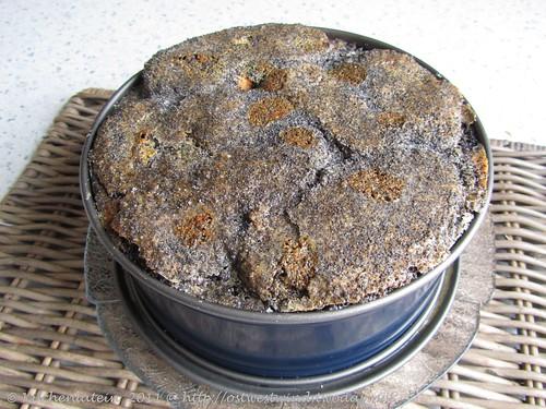 Eleganter Brot-Mohn-Auflauf mit Vanille-Sauce 001