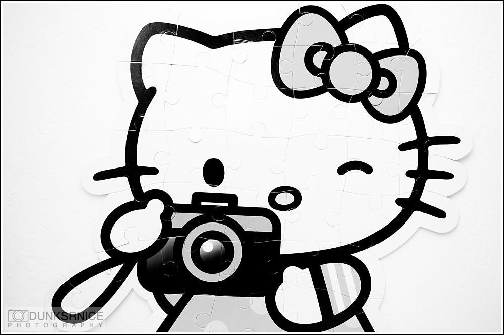 Hello Kitty B&W.