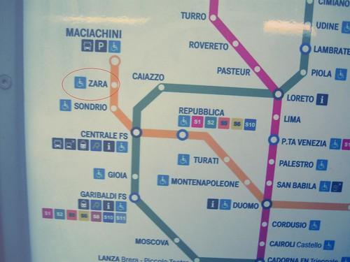 metro zara map
